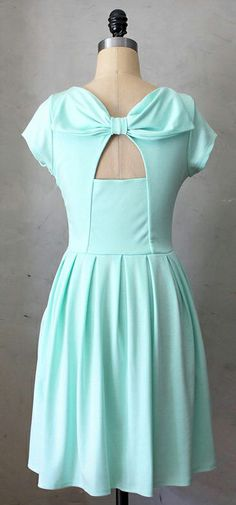 Minty Bow Back Dress