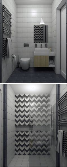 Modern Scandinavian Style Bathroom By Anna Shymanovitch Interior Design Course Student In European