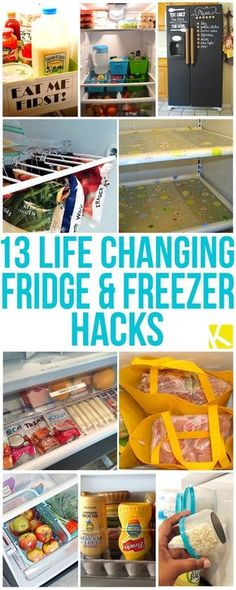 13 Life Changing Fridge and Freezer Hacks. Reduce waste, save money and time. No coupons needed!