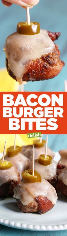 Bacon Burger Bites are the low-carb game day app your party desperately needs. Get the recipe from Delish.com.