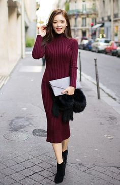 dress knit models fashion winter outfits 2016 trends