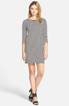 cupcakes and cashmere Stripe Ponte Dress available at #Nordstrom