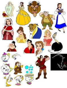 Disney (Beauty & The Beast) Free SVG Files