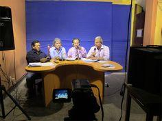 Panel que dirije Otto Huamaní en Canal 59.