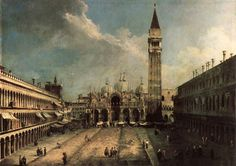 Piazza San Marco by Giovanni Antonio | Cityscape Paintings
