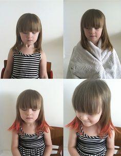 DIY hair, temporary hair color.