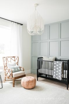 Love this soft neutral nursery. see the full tour on DesignLovesDetail… Love this soft neutral nursery. see the full tour on DesignLovesDetail… Baby Bedroom, Baby Room Decor, Nursery Room, Kids Bedroom, Nursery Decor, Nursery Ideas, Room Ideas, Master Bedroom, Guest Room And Nursery Combo