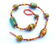 Paper bead wrap bracelet - great blog!  #handmade #jewelry #DIY