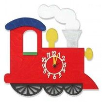 Children's Wall Clock - Red Train - Available now on Becky & Lolo
