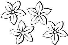 clipartist.info four flowers flora 80 black white line art tattoo ...