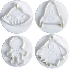 """Rocket Cookie Cutter 4/"""" Outer Space Moon Missile Aircraft Engine Baking Party"""