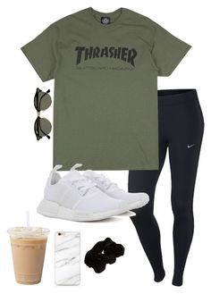A fashion look from June 2016 by brookekeller featuring NIKE adidas Originals an. - A fashion look from June 2016 by brookekeller featuring NIKE adidas Originals and River Island Effek - Cute Outfits With Leggings, Cute Lazy Outfits, Legging Outfits, Teenage Outfits, Teen Fashion Outfits, College Outfits, Outfits For Teens, Fall Outfits, Lazy Day Outfits For Summer