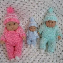 Knitting Pattern Dungarees Jumper Hat And Boots Set For Berenguer Dolls Knitted Doll Patterns, Christmas Knitting Patterns, Knitted Dolls, Baby Knitting Patterns, Knitting Ideas, Crochet Toys, Crochet Patterns, Knitting Dolls Clothes, Baby Hats Knitting