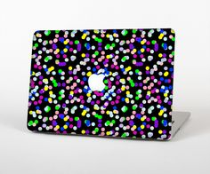"""The Multicolored Polka with Black Background Skin Set for the Apple MacBook Pro 15"""" with Retina Display from Design Skinz"""