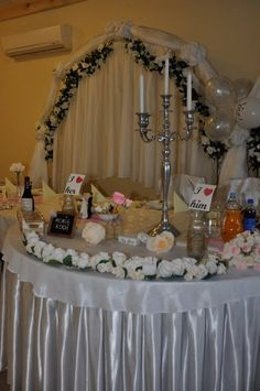 Garland Table wedding girlande Wedding Flowers by moniaflowers
