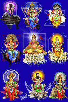 means Nine Planets Krishna Flute, Bal Krishna, Krishna Art, Shiva Art, Shiva Shakti, Hindu Art, Lord Ganesha Paintings, Lord Shiva Painting, Durga Images