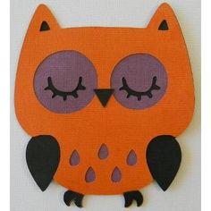 $2.5 1 x Black Orange And Purple Large Owl Die Cuts DIE032 by Honeybee23 on Handmade Australia