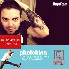 photokina HapaTeam Shows: Danny Lenihan begann seine berufliche Laufbahn 1990 als Pressefotograf in London.  2005 kam Danny mit Elemental Studio-Flash.com wieder zu seinen Fotografie Wurzeln zurück und entwickelte mit Hilfe von seinem Team bei Elemental, Stative für den britischen Markt - 3 Legged Thing. Den HapaTeam Show-Zeitplan findet ihr in unserem Blog:http://hapa-team-blog.de/hapateam-photokina-2016-events/