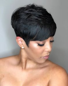 Short Sassy Haircuts, Cute Hairstyles For Short Hair, Short Hair Cuts, Short Hair Styles, Pixie Cuts, Pixie Haircuts, Short Pixie, Mom Hairstyles, Weave Hairstyles