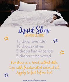Essential oils for sleep (http://www.marthaflorence.com)
