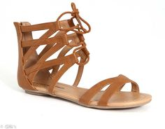 City Classified Adley Lace Up Gladiator Sandals for Women