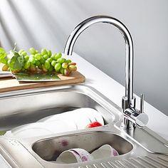 contemporanea solida cucina rubinetto in ottone - finiture cromate