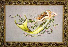 Emerald Mermaid - Cross Stitch Pattern