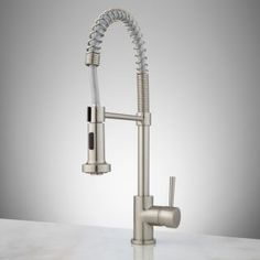 Melba Kitchen Faucet with Spring Spout - Brushed Nickel