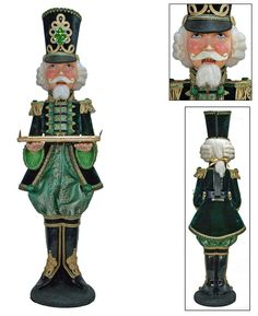 "Katherine's Collection Imperial Guardsman Christmas Collection 43"" Life Size Nutcracker Butler Free Ship"