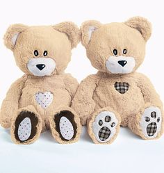Simple to Make Soft Teddy Bears!  Sewing Pattern    Sewing Patterns included for:  18 inch bear in two styles    Made from synthetic fur with