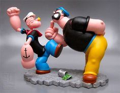 Popeye Heavy Lifter Polyresin Figurine Statue in Original Box Classic Cartoon Characters, Classic Cartoons, Statues, Popeye And Olive, Popeye The Sailor Man, Clean Shaven, Hobbies For Men, Hobby Toys, Pottery Sculpture