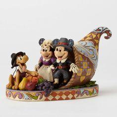 Jim Shore Disney Thanksgiving Mickey & Minnie in Cornucopia NEW 2016 Mickey Mouse And Friends, Mickey Minnie Mouse, Disney Mickey, Walt Disney, Disney Statues, Disney Figurines, Disney Thanksgiving, Disney Christmas, Thanksgiving Cornucopia