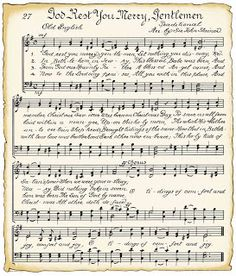 Vintage sheet music for Christmas crafts