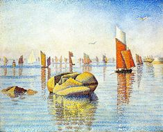 1891: Concarneau, Calm, Morning, Paul Signac