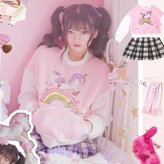 Harajuku Pastel Rainbow Unicorn Sweater SD01817