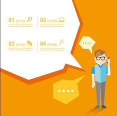 Business people with speech bubbles vector set 02