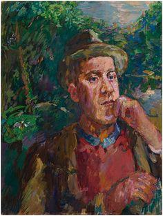Oskar KOKOSCHKA, self portrait with a stick.1935-36, oil/canvas, 95 x 75 cm