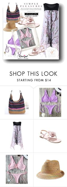 """Rosegal"" by snezanamilunovic ❤ liked on Polyvore featuring Frontgate, Vince and WALL"