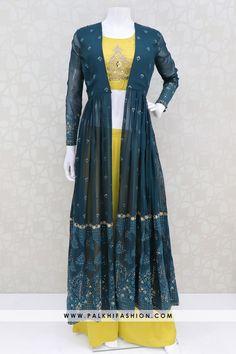 Indian Bridal Fashion, Indian Fashion Dresses, Indian Designer Outfits, Indian Outfits, Mehendi Outfits, Fashion Clothes, Fashion Outfits, Saree Jacket Designs, Kurta Designs