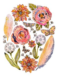 Vibrant Watercolor Paintings Celebrate the Small Details Found in Nature - My Modern Met