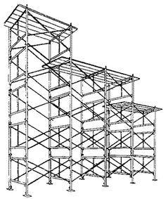 scaffolding, used as an observation deck at hunting base camp.