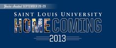 #SLU #Homecoming and Family Weekend 2013 - Thursday, Sept. 26-Sunday, Sept. 29.