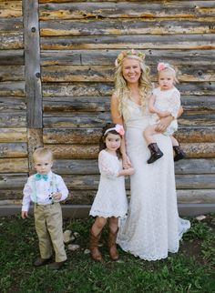 How cute are these three little ones? http://www.stylemepretty.com/colorado-weddings/steamboat-springs-colorado/2015/10/05/vintage-rustic-fall-steamboat-springs-wedding/ | Photography: Andy Barnhart - http://www.andybarnhart.com/