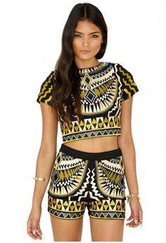 Ameliana Premium Aztec Embroidered Shorts - Shorts - Clothing - Missguided