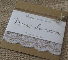Faire-part gamme |noces de coton| : Faire-part par la-mariee-inspiree
