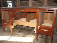 Dispatches from Can of Duck: Upcycle: How to turn a desk into a chicken nest box