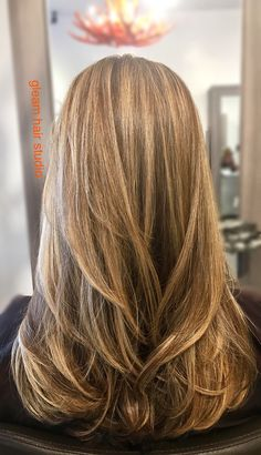 Golden blonde balayage on a natural base by Peter Gleam Hair Studio Miami