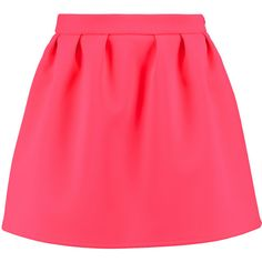 Maison Kitsuné Pleated cady mini skirt (160 CAD) ❤ liked on Polyvore featuring skirts, mini skirts, bright pink, pink pleated skirt, mini skirt, pleated mini skirt, maison kitsuné and short mini skirts