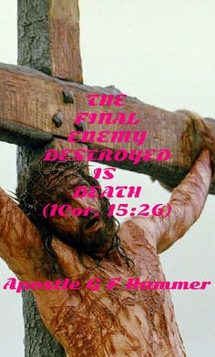 Death is dead. Live in Love, and never die. Live for Him who died for you.