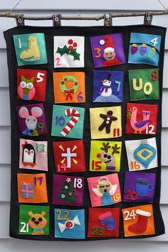I love the bright, kid-friendly colors on this one. Advent Calendar by RunLoriRun, via Flickr